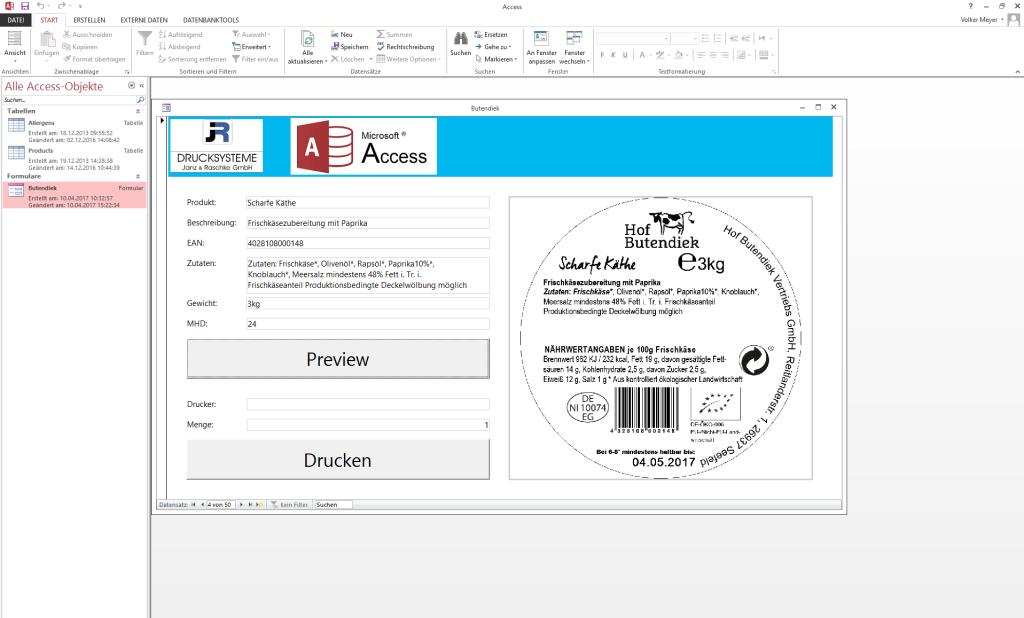 NiceLabel 2017 | Etikettenvorschau in Microsoft Access ...