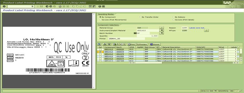 Etikettendruck aus SAP mit dem NiceLabel ABAP Package