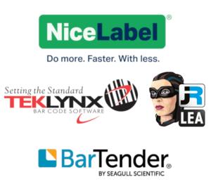 Etikettensoftware-Hersteller-Nicelabel-Teklynx-Bartender-JR-LEA