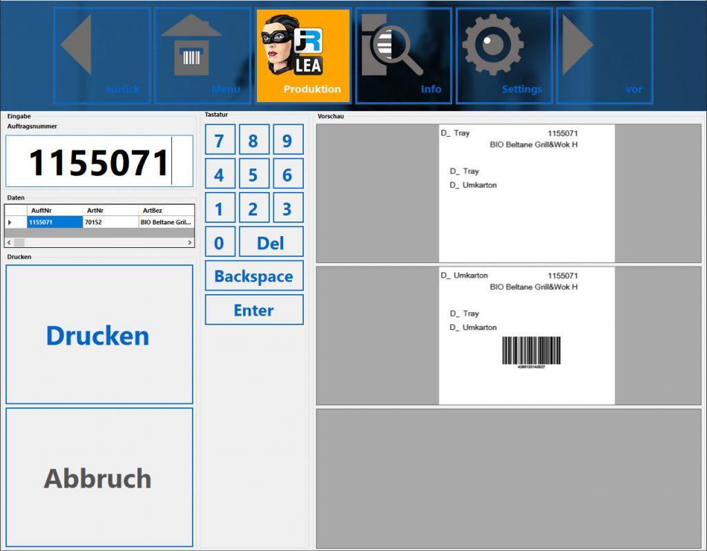 Unterschiedliche Kennzeichnungssysteme unter einer Kontrolle mit JR-LEA